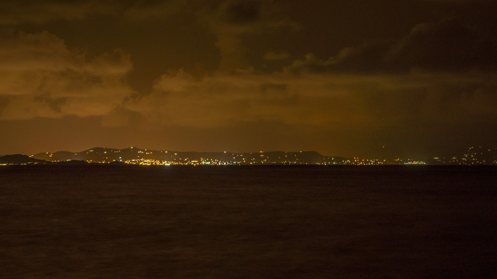 The lights of Christiansted.