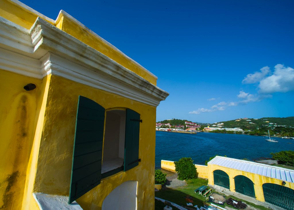We could use the protection of Fort Christiansted at the pier.