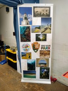 Find Your Park sign at NPS HQ
