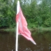 the dive flag Barb made